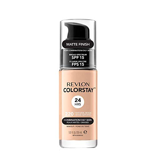 Revlon ColorStay Base de Maquillaje piel mixto/graso FPS15 (#220 Natural Beige) 30ml
