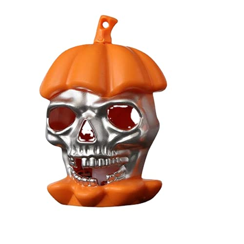 WYGOAKG 1 unids Calavera Naranja Halloween Esqueleto Mano LED Vela Luz Calabaza Esqueleto Lámpara Decoración Luces para Casa Fiesta Bar Arte Prop