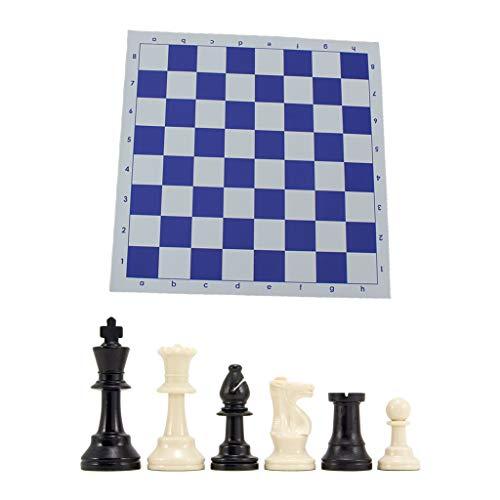 zrshygs Juego de ajedrez de Tablero de ajedrez con Triple Peso y Alfombrilla de ratón