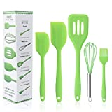 Huinsh Silicone Kitchen Utensils Set for Cooking and Baking 5 Pc Cooking...