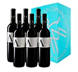 A de ANTIGVA Vino tinto joven Tempranillo - Vinos de la Tierra de Castilla - La Mancha - Caja de 6 botellas 0.75 l