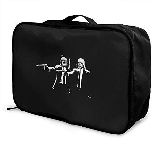 P-ulp Fiction Bolsa de viaje bolsa de almacenamiento Paet plegable impermeable ligero portátil de alta capacidad llevar en Lage Bolsas