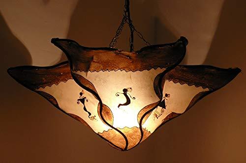 Marokko orientalische Decken Lampe Marrakesch Leuchte Henna Leder - 905053-0012