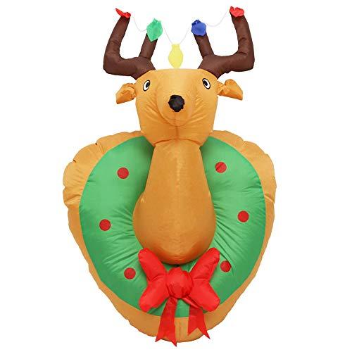 WM&LJP 1.2M Renna Decorazioni Di Natale Gonfiabili, Decorazione Esterna Illuminato Renna Gigante Yard Partito Per L'All'Aperto Cortile Lawn Xmas Decor