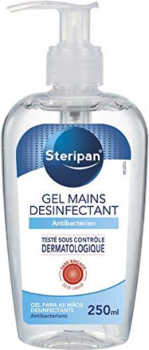 STERIPAN - Steripan Gel Antibactérien pour les Mains – Format Pompe – Elimine Les Bactéries – Parfum Agréable 250