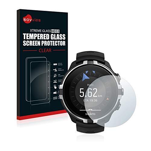 savvies Pellicola Vetro Temperato Compatibile con Suunto Spartan Sport Wrist HR Baro Stealth Protezione Protettivo Schermo Glass Durezza 9H