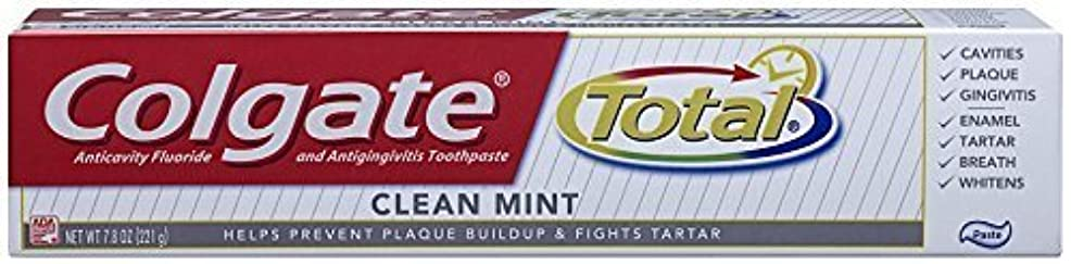 思いやりのある経済うなるコルゲート クリーンミント 歯磨き粉 7.8OZ Colgate Total Original Toothpast Clean mint