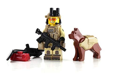 Battle Brick EOD Explosive Ordnance Disposal Specialist K9 (SKU14) Custom Minifigure