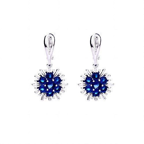 Pendientes de tendencia de moda Pendientes de collar de aleación de belleza europea con joyería de diamantes Pendiente de joyería de tendencia moda