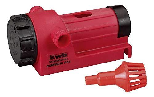 kwb Compacta Pumpe P57 Bohrmaschinen-Pumpe 3000 l/h, selbstansaugend m. Ansaug-Filter, Gewinde-Anschluss R 3/4'', f. Schlauch-Adapter 1/2 und 3/4 Zoll, Made in Germany