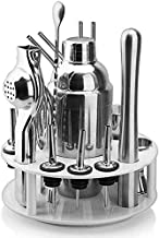 19-Piece Bartender kit 360 ° Rotating ABS Circular Stand Cocktail Shaker Set Perfect Home bar Tool Set for a Superb Drink ...