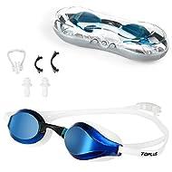 TOPLUS Swimming Goggles, Racing Swim Goggles Adult Unisex Swim Goggles, No Leaking Anti Fog UV Prote...