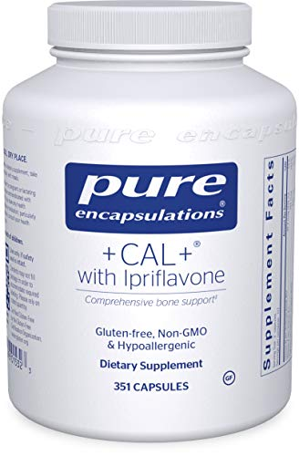 Pure Encapsulations - +Cal+ with Ipriflavon - Mineral, Vitamin, and Herbal Supplement to Promote Skeletal Strength - 351 Capsules