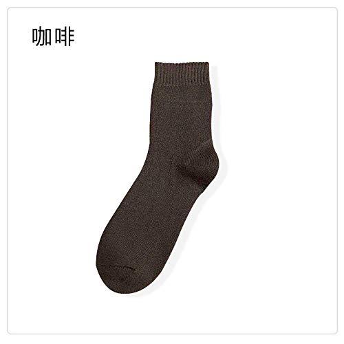 FANG yoga-sokken, antislip, dik, effen, voor herfst en winter, van katoen