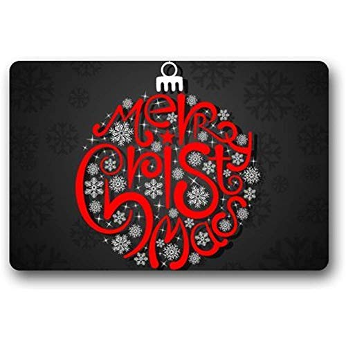 Schöne rote Schneeball-Laterne-Weihnachtstürmatten-Dekorationen - dauerhafte maschinenwaschbare Türmatte