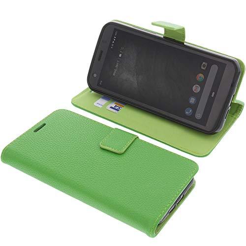 foto-kontor Tasche für CAT S52 Book Style grün Schutz Hülle Buch