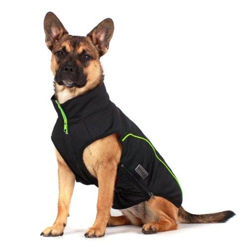 Wolters | Softshell-Jacke Basic in Schwarz/Limone | Rückenlänge 56 cm