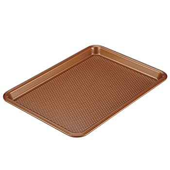 Ayesha Curry Nonstick Bakeware Nonstick Cookie Sheet / Baking Sheet - 10 Inch x 15 Inch Copper Brown