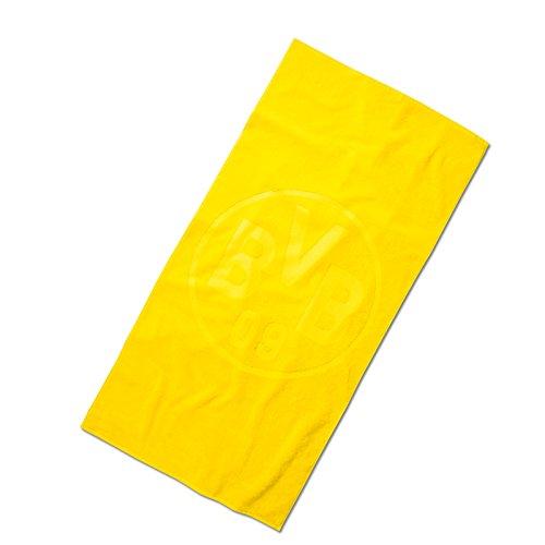 Borussia Dortmund BVB Duschtuch mit Emblem in gelb, Baumwolle, 140 x 70 x 1 cm