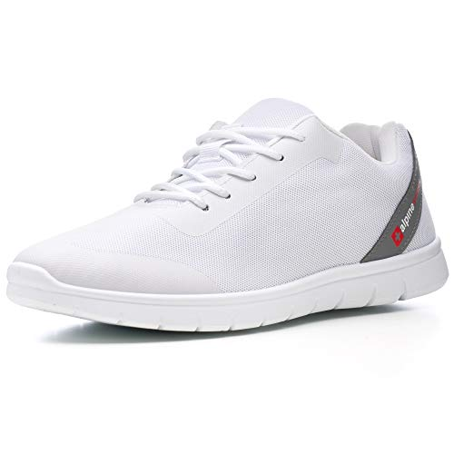 Alpine Swiss Lewis Mesh Sneakers Breathable Lightweight Fashion Trainers White 13 M US