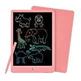 PINKCAT LCD Writing Tablet, 10 inch Colorful Doodle Board, Erasable Reusable Toddler Drawing Pads, Educational and Learning Kids Toys Gifts for 3-8 Years Old Kids (Pink)