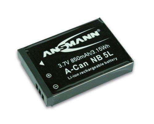 ANSMANN 5022953 A-Can NB 5 L Li-Ion Digicam Akku 3,7V/850mAh für Canon Foto Digitalkamera