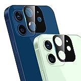 Ossky Protettore Lente Fotocamera Posteriore per iPhone 12, Pellicola Protettiva in Vetro temperato Copertura della Fotocamera del Telefono Cellulare, Scratch Resistente(2 Pezzi )