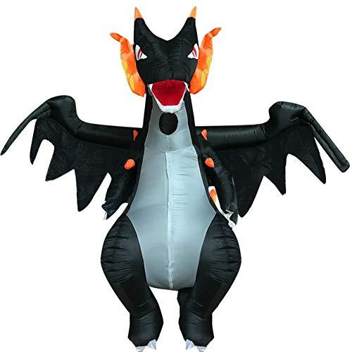 MOSHANG Disfraces de Halloween, Ropa inflables dragón, adecuados for la Altura y 5,1 pies-6.4 pies, Tela de Fibra de poliéster Resistente al Agua, realizando el Papel de un Traje de Dinosaurio Adulto