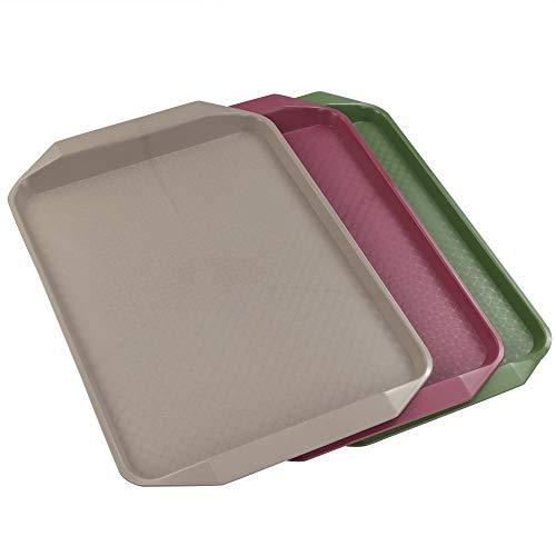 """Fuerte /& Reutilizable UK 25 X Plástico Transparente Alimentos Bandejas//Bandejas 10/"""" X 8/"""""""