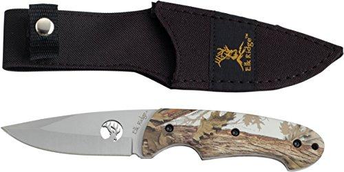 Elk Ridge Couteau d'extérieur Hunter Camo Enduit poignée, Longueur Totale : 21,59 cm, elkr de Forêt 1013