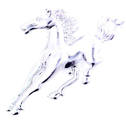 Lizzyoftheflowers–Lizzyoftheflowers. Tono de plata de caballo al galope/caballo broche, de cuento de hadas Fashion joyas