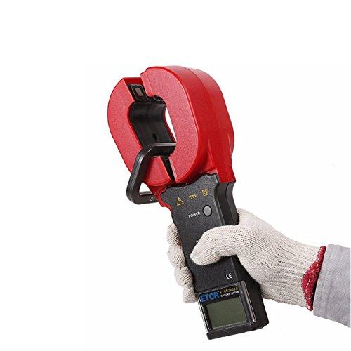 ZUQIEE Pinza amperimétrica Digital, Resistencia de Tierra Metro de la Abrazadera, Rango de Resistencia: 0,01~200Ω, Metro de la Abrazadera con Pantalla LCD de la Alarma del Sistema de Almacenamiento
