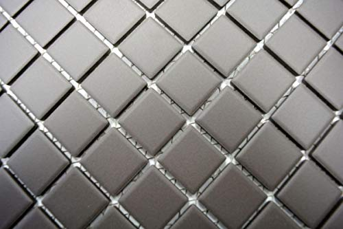 Mozaïek tegel keramiek grijs ongeglazuurd douchebak vloertegel MOS18B-0211-R10_m