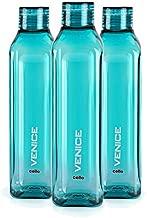 Cello Venice Plastic Water Bottle, 1 Litre, Set of 3, Green