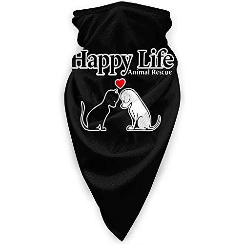 Zome Lag Multifunctionele hoofdband, bivakmuts, outdoor-bandana's, hoofddeksels, unisex halswarmer, Happy Life Animal Rescue Soft Headwrap, gezichtsdoek, bandanas in de buitenlucht