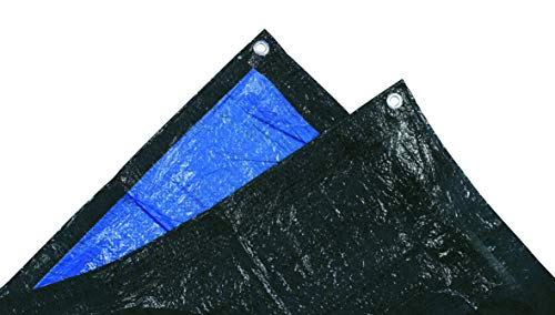 Tec Hit 880203 bâche lourde de protection 140g/m² - 2x3m, Bleu/Noir