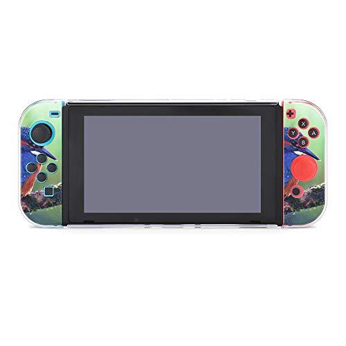 Carcasa protectora para Nintendo Switch, diseño de pájaro azul en el árbol