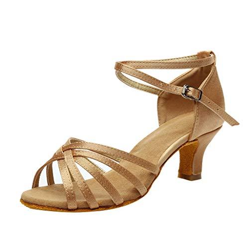 WWricotta Women's Color Fashion Rumba Waltz Prom Ballroom Latin Salsa Dance Shoes Sandals