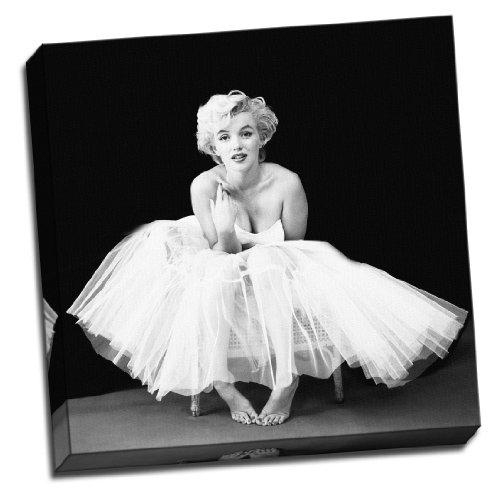 """'Marilyn Monroe schwarz und weiß 20""""x20groß Leinwand Bild Bild Wall Art Print"""