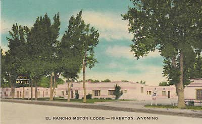 E2058 WY Complete Free Shipping Riverton Direct store El Lodge Postcard Rancho Motor
