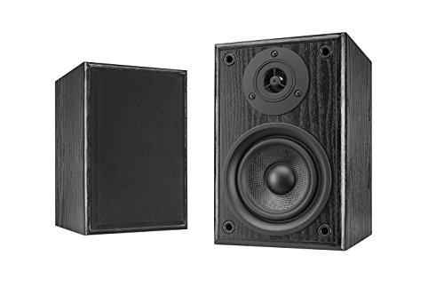 Dual LS 100 Aktiv-Lautsprecher Set (Phono-Eingang, integrierter Verstärker für Plattenspieler, Paar) schwarz