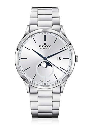 EDOX herenhorloge Les Vauberts maanfase datum analoog 80505 3M AIBU