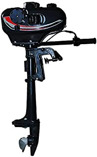 N-A HANGKAI Outboard Motor, 6-12HP 2-4Stroke Inflatable Fishing Boat Engine Air Water Cooling Water Cooling System