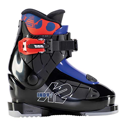 K2 Skis Jungen Indy - 1 Skischuhe, Black - Blue - red, Mondo: 15.5 (EU: 26 / UK: 7.5 / US: 8.5)