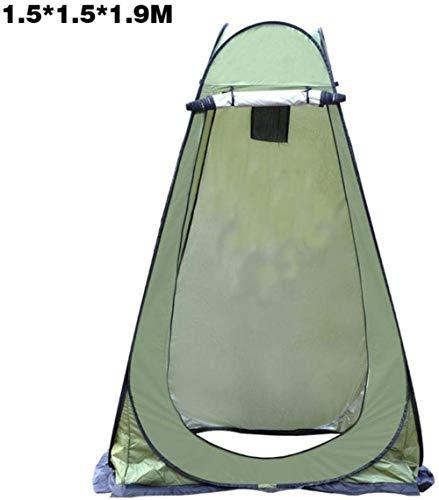 HEG - Tienda de campaña para inodoro plegable, impermeable, portátil, para camping, playa, para el baño, incluye piqueta, poste, cuerda, bolsa de almacenamiento de diez