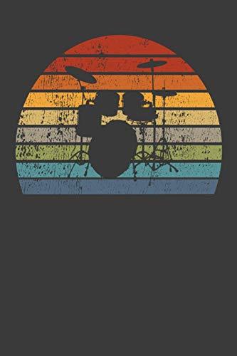 Schlagzeuger Notizbuch: A5 Dodgrid (gepunktet)   Agenda Journal   Retro Look   Vintage   Geschenkidee Drummer