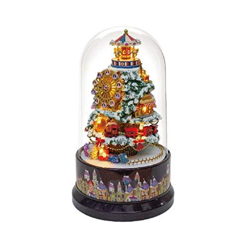 Hong Yi Fei-Shop Caja Musical Caja de música de Resina Hecha a Mano Regalo Navidad/Cumpleaños/Día de San Valentín, Dos Estilos Caja de música (Color : A)