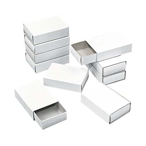Rayher 8147300 Streichholzschachteln, klein, Beutel 12 Stück, 5,3x3,6x