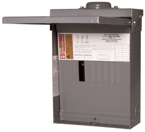 Square D by Schneider Electric QO816L100RBCP QO 100 Amp 8-Space 16-Circuit Main Lug Outdoor Load Center with Cover