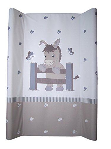 Schmale 2-Keil Wickelauflage Esel Taupe 50 X 70cm